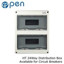 HT серии 24Way IP66 водонепроницаемый и влагостойкий распределительный ящик для автоматических выключателей внутри на стене