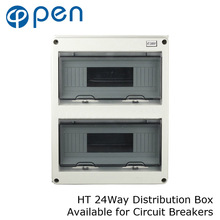 HT Series 24Way IP66 Waterproof and Moistureproof Distribution Box for Circuit Breakers Indoor on the Wall цена