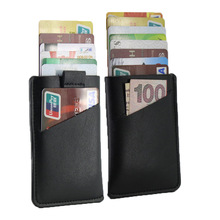 Credit Card Cover RFID Blocking Wallet Slim Front Pocket Minimalist Purse Men Pull Tab Card Holder Leather Business Card Case