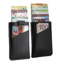 Credit Card Cover RFID Blocking Wallet Slim Front Pocket Minimalist Purse Men Pull Tab Card Holder Leather Business Card Case