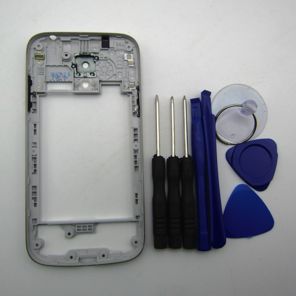 Mid frame For Samsung Galaxy S4 mini i9190 i9192 i9195 Middle frame bezel Housing Case Cover Replacement parts + tools