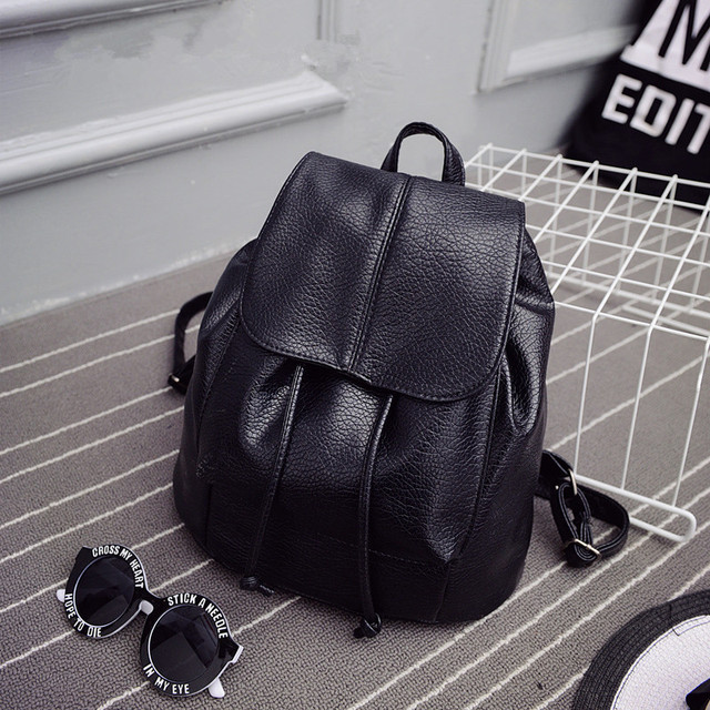 2016 summer new college wind schoolbag washed leather backpack woman Korean  tidal fashion leisure travel bag Boutique backpacks b3377066c0c66