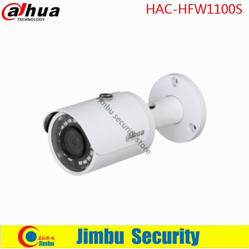 Original Dahua security camera 1Megapixel 720P Water-proof IR30M IP67 HDCVI IR-Bullet Camera HAC-HFW1100S dahua 2mp hdcvi camera cctv 1080p water proof ip67 hac hfw1200s bullet camera lens 3 6mm ir leds length 30m mini security camera