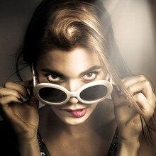 a69ef42be8 2019Hot venta Clout gafas Oval gafas de sol de las mujeres NIRVANA, Kurt  Cobain, espejo gafas de sol Retro mujer hombre gafas UV.