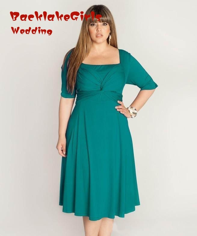 Plus Size Dresses Tea Length Mother Bride 24
