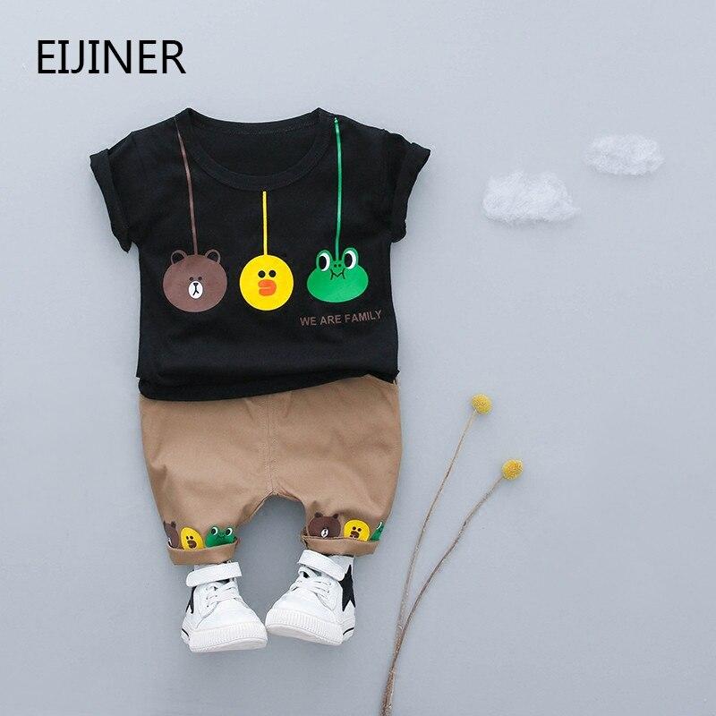 2Pcs/Set Summer Baby Boys Clothing Sets Children Sets Gentleman Kids Little bee Cartoon T-shirt+Pants Infant Casual Suits