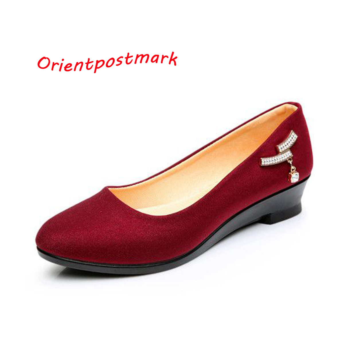 Women Ballet Wedges Shoes Women Shoes for Work Cloth Flats Sweet Loafers Slip On Women's Wedges Shoes Oversize Boat Shoes  women shoes women ballet flats shoes for work flats sweet loafers slip on women s pregnant flat shoes oversize boat shoes d35m25
