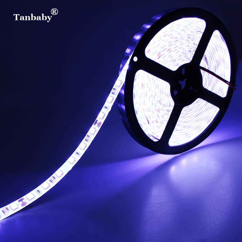 Tanbaby DC24V LED Strip Light SMD 5050 5M/Roll 60LED/M Flexible LED Ribbon Tape Non-waterproof Indoor / Waterproof Outdoor Deco