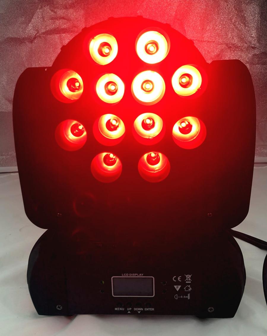 LED 12x12 W lavage LED orientable étape lumière rgbw RGBW 4in1 Quad lampe à LED avancé 9/16 DJ DMX canaux pour scène professionnelle - 3