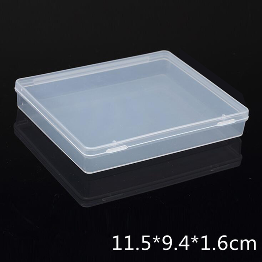 Transparent Plastic Box Storage Collections Product Packaging Box Dressing Case Mini Case Out Size 11.8*9.8*2cm