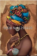 African woman Diy Diamond Painting Crafts 5D Diamond Embroidery Needlework Resinstone full Square Mosaic painting home Decor