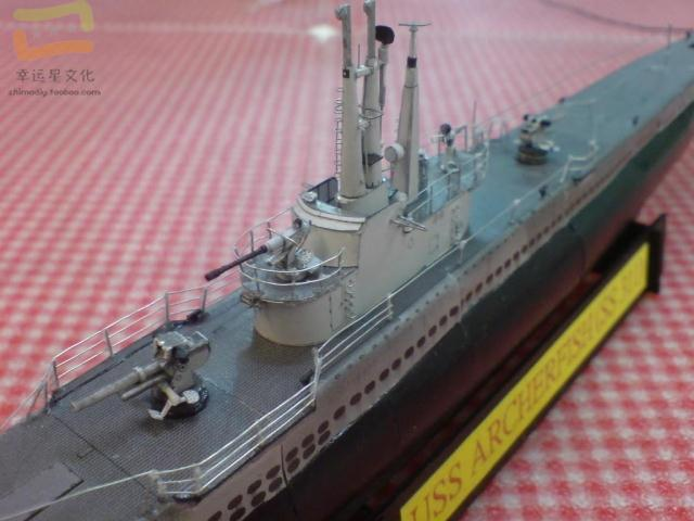 USS Archrfish Submarine Military Model 3D Paper Model Submarine Paper Model