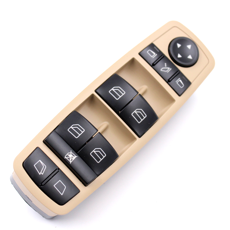 YAOPEI Beige Or Black Drivers Window Mirror Master Switch For Mercedes-Benz GL R Class A2518300390 251 830 03 90 8K67 2518300390
