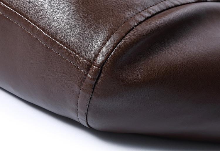 Soupe brown À La Mode En Hommes Pardessus Black Et Manteau D'hiver Rêve Mouton Vêtements Cuir Noir Peau Marque De Veste black Collier Laine brown rpgzrqxw