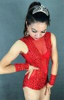 Супер плотный блестящий акрил горячее сверление сшивание Сексуальная перспективная сетка кусок DJ для певицы для сцены костюмы Beyonce Rave одеж