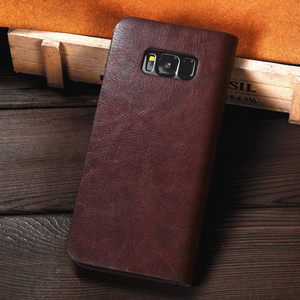 Image 5 - Genuine Real Leather Wallet Card Holder Flip Case Cover For Note 10 + Note 9 Samsung S20 Ultra S20 Plus S10 S10E S9 Plus Cases