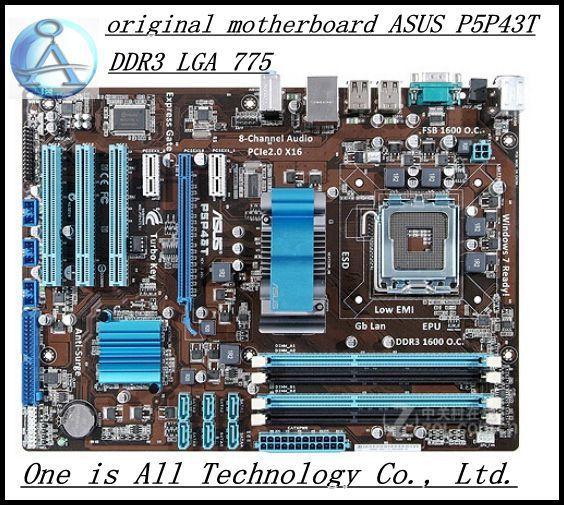 Envío gratis original placa madre para ASUS P5P43T DDR3 LGA 775 Capacitores Sólidos envío libre
