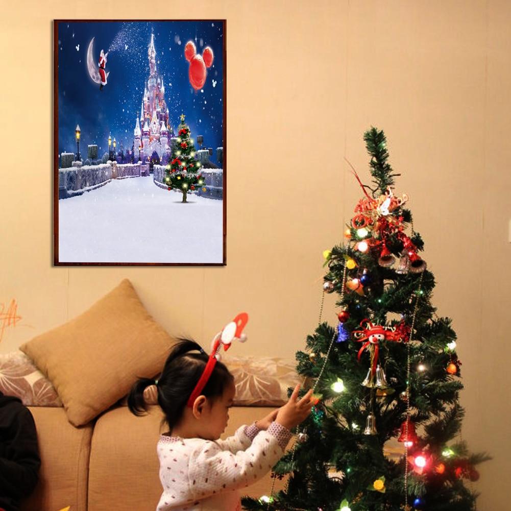 30*40cm Christmas Night Decor 5D Diamond DIY Painting Craft Kit Home ...