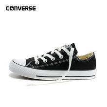b20dddac9 أصيلة CONVERSE كل نجم الكلاسيكية تنفس قماش المنخفضة أعلى التزلج أحذية  للجنسين مكافحة زلق الرجال والنساء أحذية رياضية