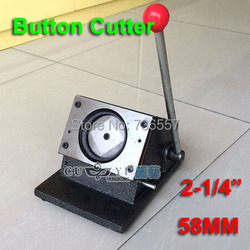 58mm NEW Heavy Duty Manual 2-1/4 Multi Sheets Stand Paper Graphic Punch Die Cutter for Pro Button Maker
