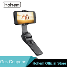 Hohem D1 Handheld Smartphone Folded Gimbal Stabilizer for iPhone Xs Max Xr X 8 7 6& Huawei& Samsung Galaxy S10 S9 S8 Smartphone