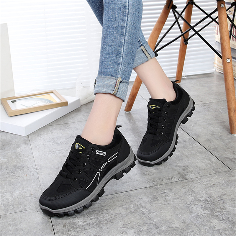 Women s Waterproof Work Shoes 2018 Autumn Non-slip Wear-resistant Travel  Shoes Outdoor Female Safety Shoes Sneakers for Woman 441e32dd2c