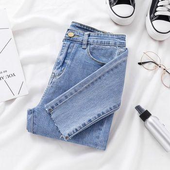 Skinny Jeans for Women Female Denim pencil Pants Mid Waist Black Color Stretch Elastic Blue Pencil Jeans Plus Size цена 2017
