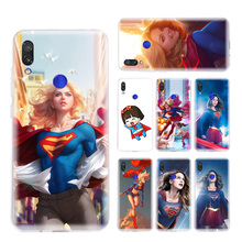 Supergirls Beautiful Phone Case for Xiaomi Redmi S2 Y3 Y2 Note 7 7S 6 5 Pro 4 4X Mi F1 9 8 A2 Lite Pattern Cover Capa Coque
