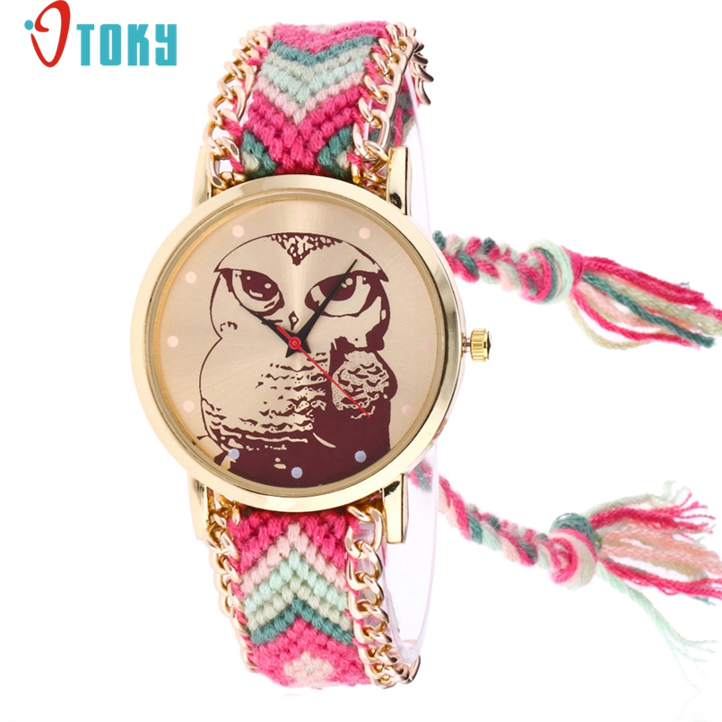 OTOKY Handmade Braided Owl Bracelet Watch Ladies Rope Watch Quarzt Watches Relogio Feminino 1Pc Dropship #J02