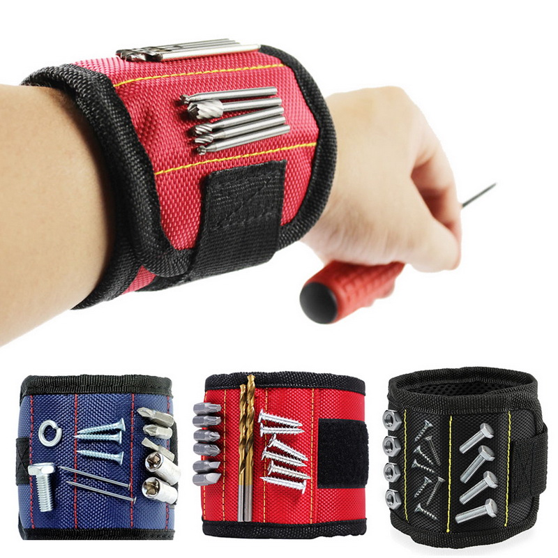 Lovely Geoeon Strong Wrist Support Magnetic Wristband Pocket Wrist Support Tool Bag Hand Bracelet Screws Drill Holder Holding A28 Tools Tool Organizers
