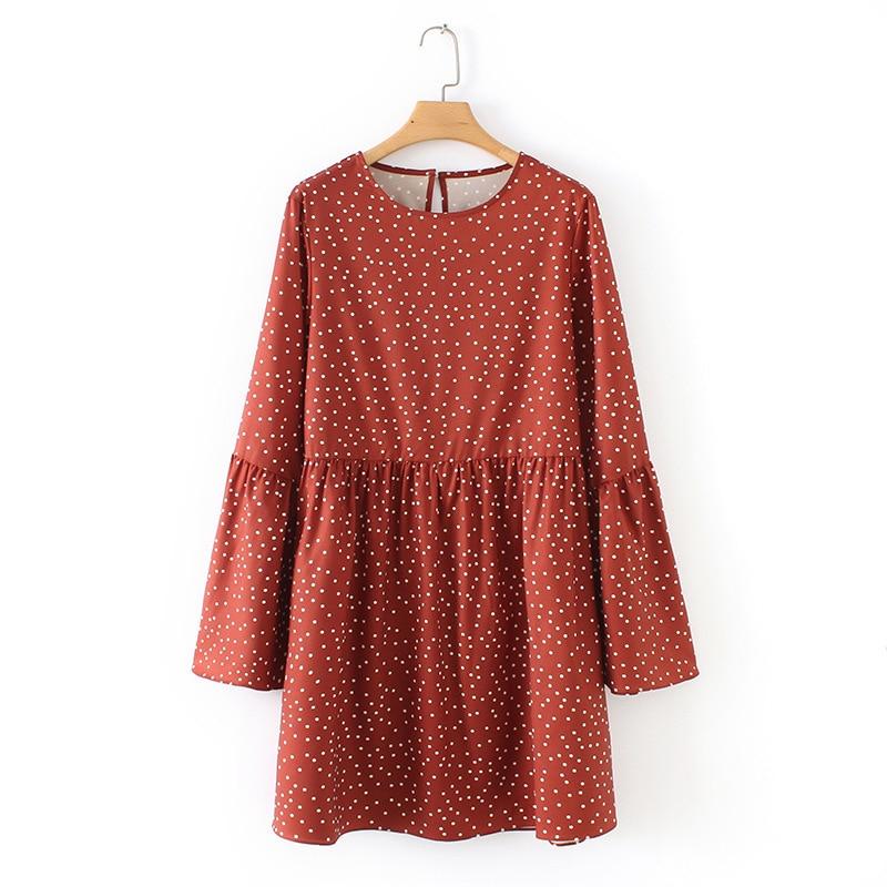 Summer dress Sexy red Polka dot print vintage Dress women 2019 Women retro Sweet O-neck Print Mini Dress short sleeve Sundress