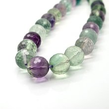 Diy Beads 10mm Rainbow Fluorite Bracelet Necklace For Jewelry(China)