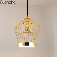 Modern Gold Bird Lamp Pendant Lights Led Hanging Lamp Kitchen Fixtures Home Decor Lighting for Dining Room Industrial Luminaire