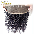 "13""x4"" Peruvian Curly Virgin Hair Lace Frontal Closure 10""-20""inch Ear to Ear Full Lace Frontals 1PCS 7A Peruvian Lace Frontal"
