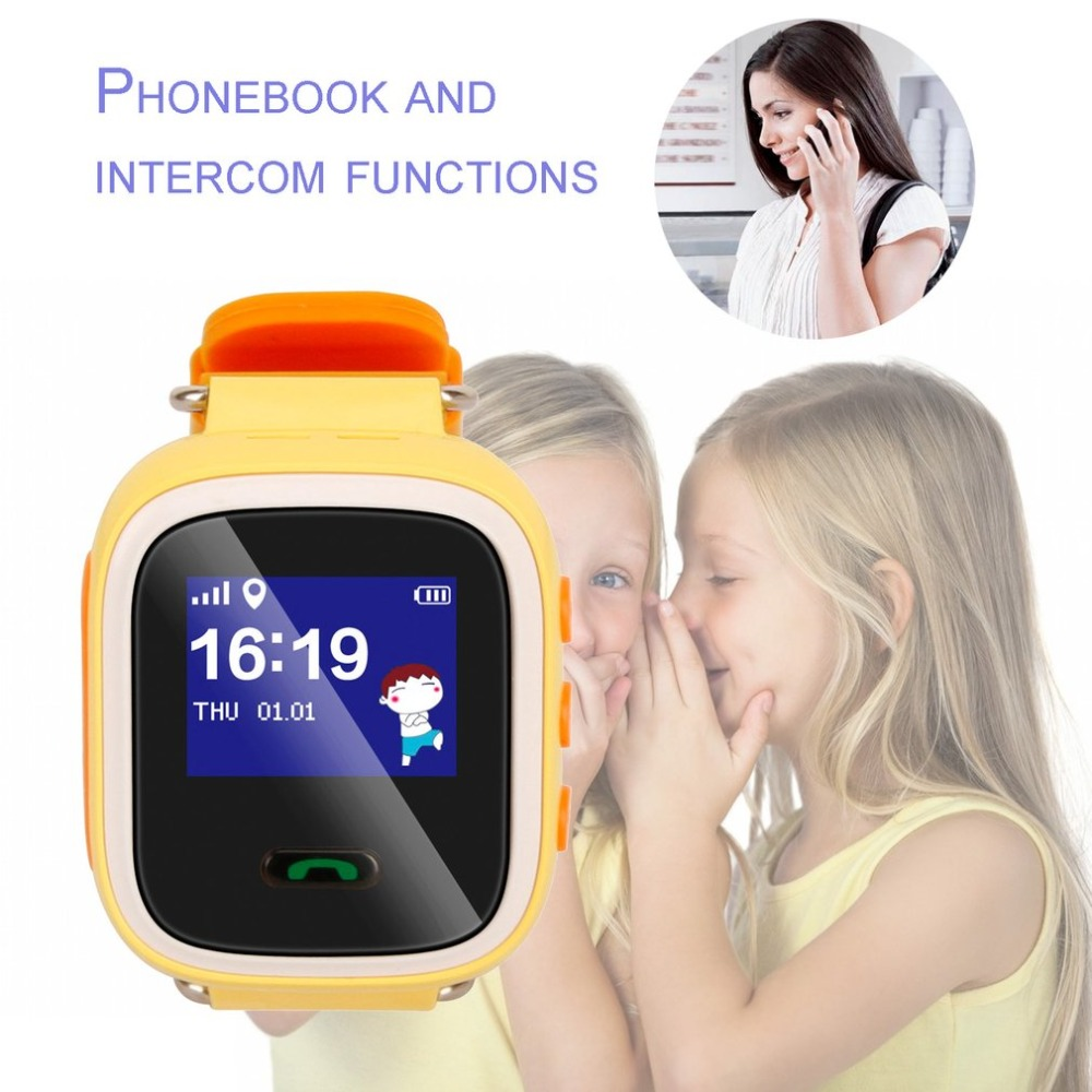 Digital Watches Child Cute Smartwatch Safe-keeper Sos Call Anti-lost Monitor Real Time Tracker For Children Base Station Location App Control Buy One Give One Watches