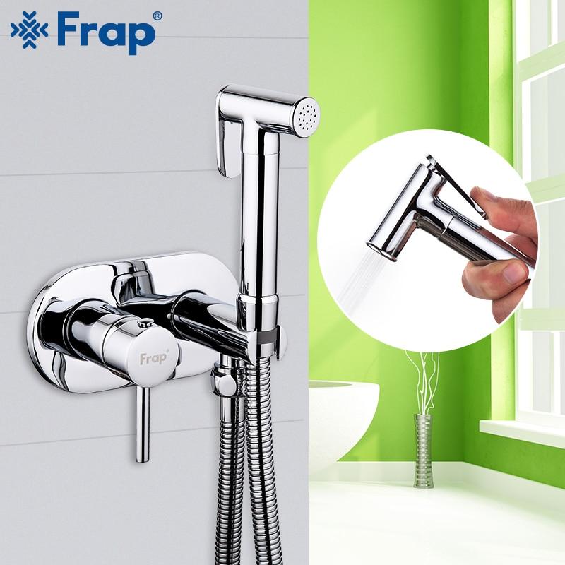 Frap Bidet Faucets Brass Bathroom toilet shower tap bidet sprayer Bidet toilet washer mixer muslim shower