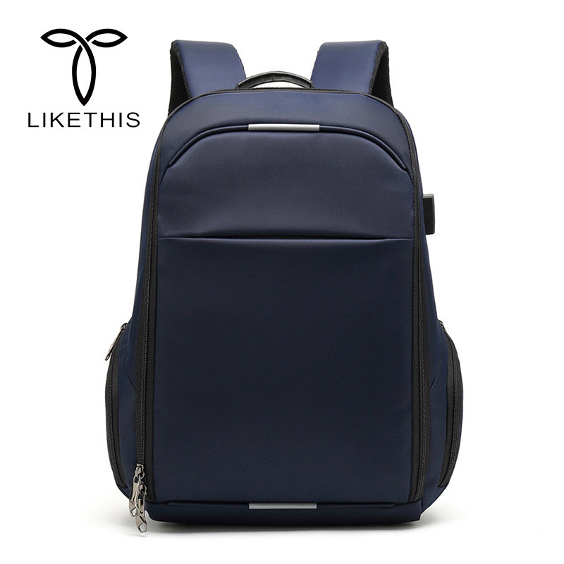 Men Fashion Oxford Cloth Backpack USB Charging 15.6 inch Laptop Backpacks For Teenager Male Mochila Leisure Travel BackpackMen Fashion Oxford Cloth Backpack USB Charging 15.6 inch Laptop Backpacks For Teenager Male Mochila Leisure Travel Backpack