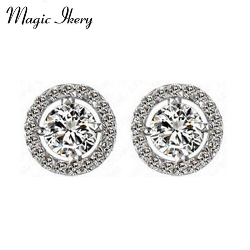 a6b1de925f6d Magic ikery moda joyería oro rosa color ZIRCON cristal vintage pendientes  para las mujeres MKZ1127