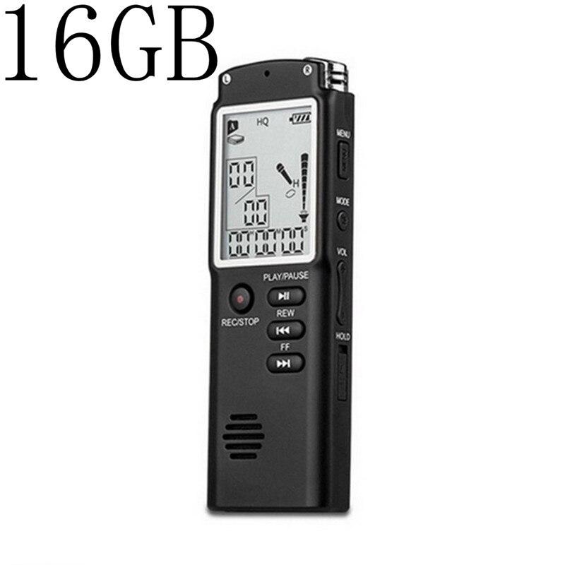 Unterhaltungselektronik 16 Gb Mini T60 Professionelle Sprach Aufnahme Gerät Zeit Display Großen Bildschirm Digital Voice Audio Recorder Diktiergerät Mp3 Player Auswahlmaterialien