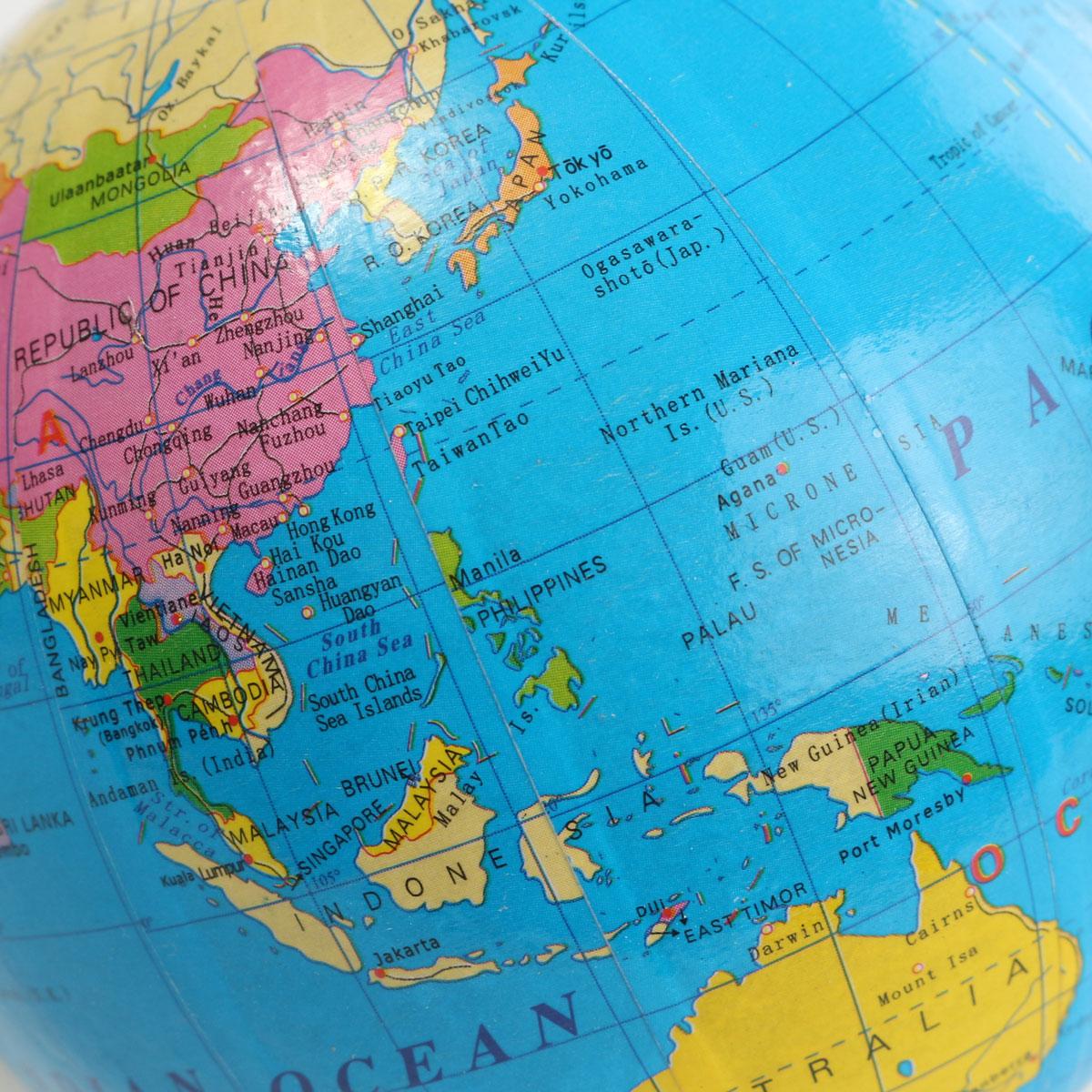 Atlas Globe Map.Kiwarm 8 5cm Delicate World Globe Atlas Map With Swivel Stand For