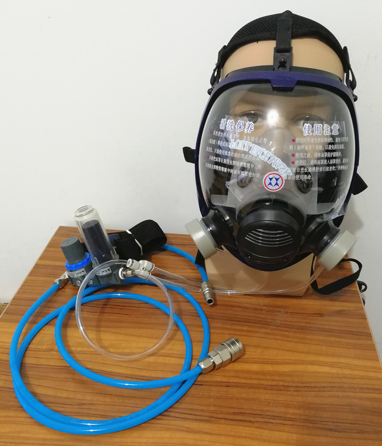 Full Gas Mask and complete set of Circulating air supply suit