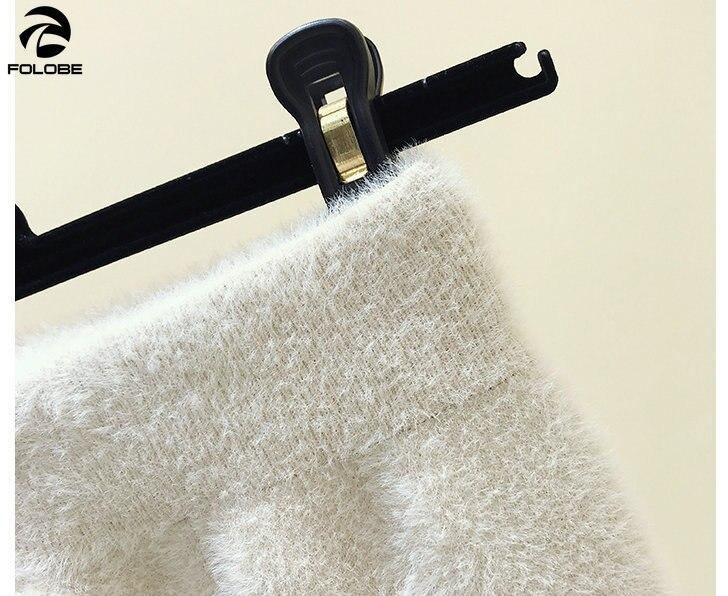 65a3390c4 FOLOBE de invierno de las mujeres slim tejido de cachemira de visón falda  otoño cálido falda ...