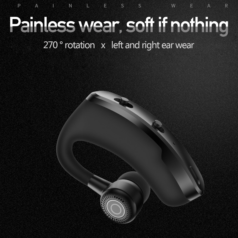 Leegoal V9 Handsfree Wireless Bluetooth Earphones Noise: V9 Handsfree Business Bluetooth Headphone With Mic Voice