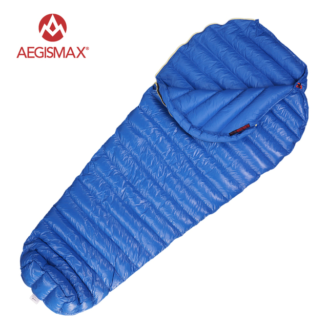 AEGISMAX M2 Filling 380g 420g 800FR Ultralight Outdoor Mummy White Goose Down Camping Hiking Sleeping