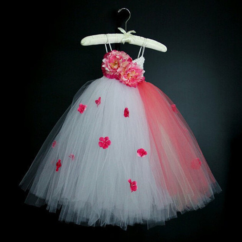 New Wedding Flower Girl Dresses 2017 Girl Party Dresses kids Girl Floral Princess Tutu Dress Photography Theme Children Clothing children girl tutu dress super hero girl halloween costume kids summer tutu dress party photography girl clothing