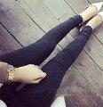 Nuevo 2017 Lavados Mujeres Imitación Pantalones Boyfriend Jeans Mujer Denim De Algodón Elástico Más Tamaño Jeans Ajustados Pantalones Lápiz