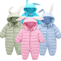 Baby Clothes Thick Warm Infant Baby Rompers Winter Clothes Newborn Baby Boy Girl Romper Jumpsuit Hooded