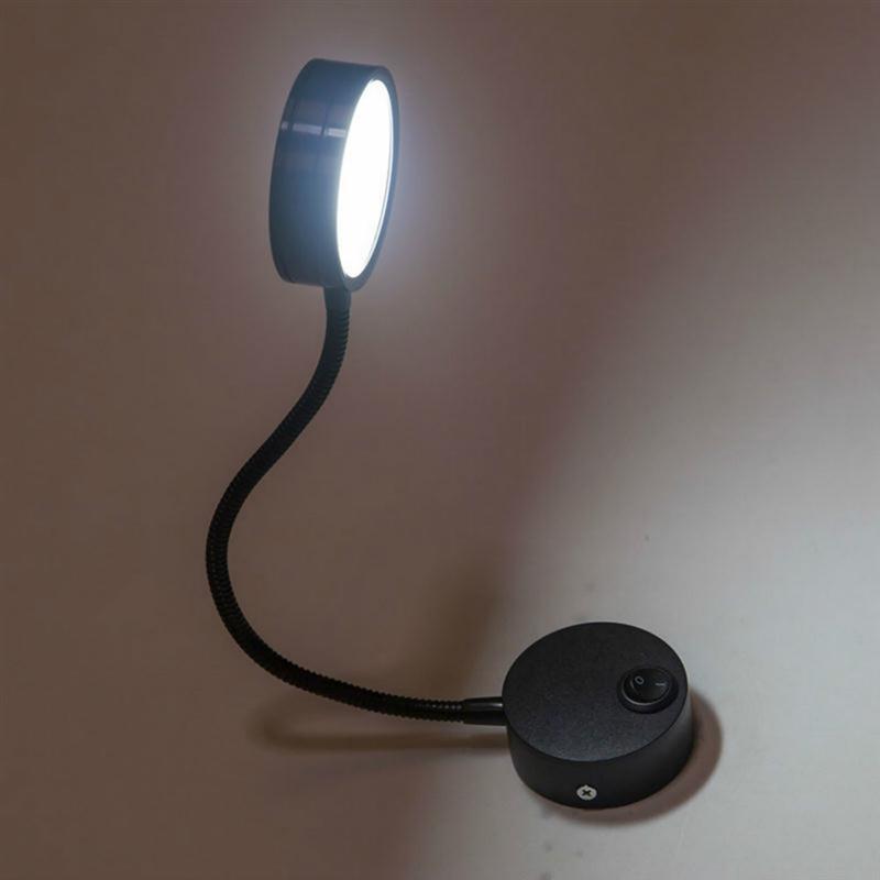 wiring flexible 3w gooseneck led wall light lamp lighting for rh aliexpress com