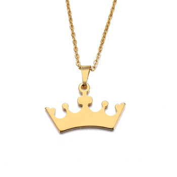 Lover S Cartoon Crown Gold And Silver Color Pendant Necklace A wide variety of cartoon crown options are available to you love s jewelry