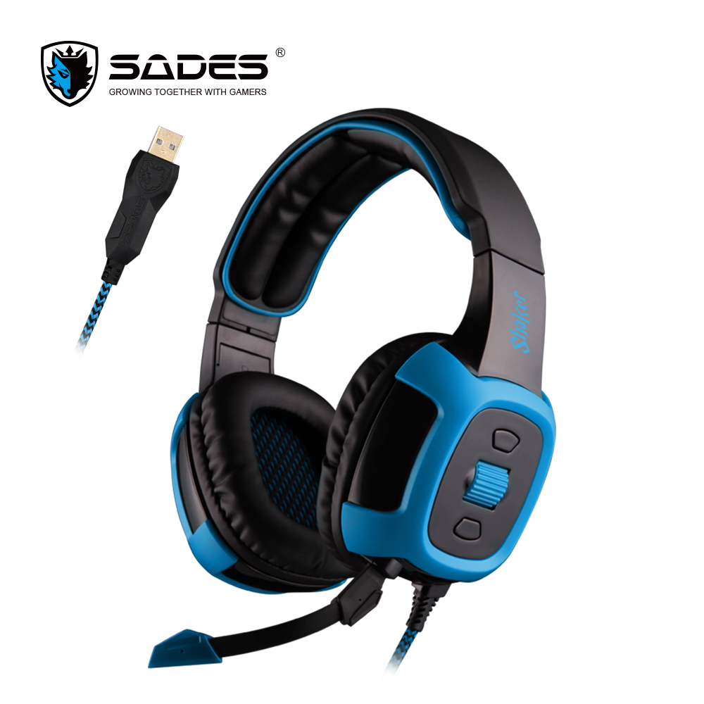 SADES Shaker Gaming Headphones Virtual 7 1 Surround Sound and Vibration effect Headset Over ear Casque